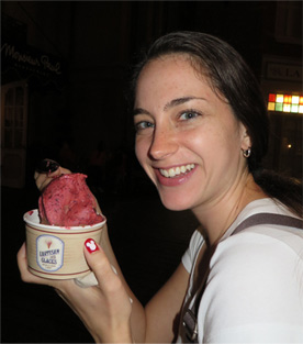 Sorbet and Ice Cream from L'Artisan des Glaces in EPCOT, December 2013
