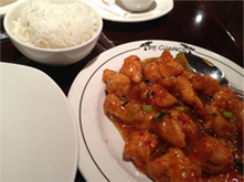 GF Chang's Spicy Chicken On Labeled Plate, December 2013