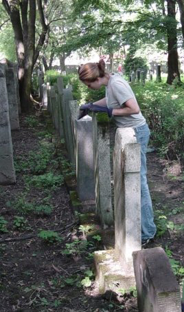 Cleaning Up A Cemetery, Summer 2002