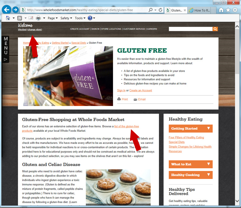 How To Retrieve Your Gluten Free Products List From Whole