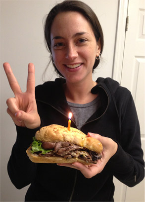 My Celebratory Sandwich For Being Two Years Gluten Free!